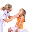 Doctor doing medical examination to a child — Stock Photo #6924795
