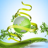 Image of green platen earth — Stock Photo