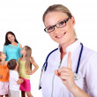 Doctor and family with children — Stock Photo #7021190