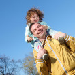 Litlle girl with father in the park — Stock Photo #7113489