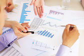 Financial and business documents on the table — Stok fotoğraf