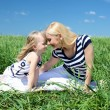Mother with her daughter outdoors — Stock Photo