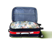 Suitcase full of banknotes — Stok fotoğraf