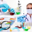 Medicine science and business collage — Stock Photo #7288483