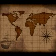 Old paper world map — Stock Photo #7289186