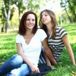 Stock Photo: Mother with her daughter in summer park