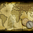 Old paper world map — Foto de Stock