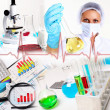 Medicine science and business collage — Stock Photo #7358008