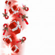 Background with traditional Christmas decoration — Stock Photo