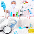 Medicine science and business collage — Stock Photo #7358290
