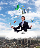 Creative and innovative bussiness man — Stock Photo