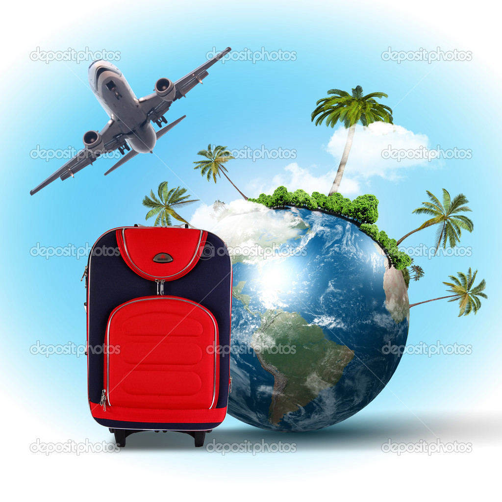 Travel and tourism collage stock photo