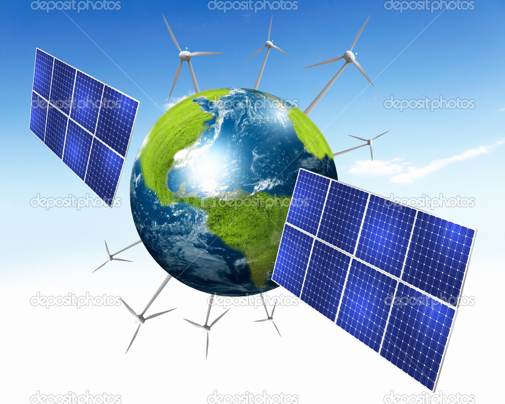 plan te terre avec piles d nergie solaire photographie sergeynivens 7356102. Black Bedroom Furniture Sets. Home Design Ideas