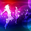 Disco or night club dancers — Stock Photo
