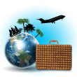 Travel and tourism collage — Stock Photo