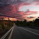 Kırsal kesimde asfalt yol — Stok fotoğraf