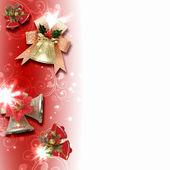 фон с традиционными рождественские украшения — Стоковое фото