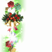 Background with traditional Christmas decoration — Foto de Stock