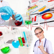 Stock Photo: Medicine science and business collage