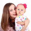 Young mother with little daughter — Stock Photo #7537588