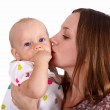 Young mother with little daughter — Stock Photo #7537646