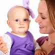 Young mother with little daughter — Stock Photo #7537706