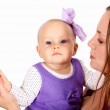 Young mother with little daughter — Stock Photo #7537724