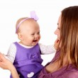 Young mother with little daughter — Stock Photo #7537730
