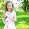 Little girl in summer park — Stock Photo