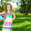 Little girl in summer park — Stock Photo #7537883