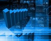 Finansowych diagramy, wykresy i wykresy — Zdjęcie stockowe