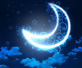 Night sky background with moon and stars — Foto Stock