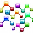 Symbol of social network — Stock Photo