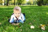 Little boy in summer park — Stock Photo