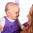 Young mother with little daughter — Stock Photo #7613743