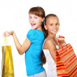 Royalty-Free Stock Photo: Pretty teenage girls with shopping bags