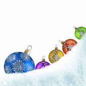 Colorful background christmas and new year theme — Stock Photo
