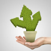 Symbol of environmental protection and ecology — Stock Photo