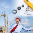 Construction industry collage — Stock Photo #7691130