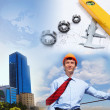 Construction industry collage - Stock Photo