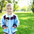 Little boy in summer park — Stock Photo #7741287