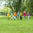 Group of children in the park — Stock Photo #7787482