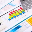 Graphs, charts, business table. - Stock Photo