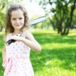 Little girl in summer park — Stock Photo #7788714