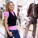 Young woman doing shopping — Stock Photo