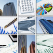 Financial and business charts and graphs — Stockfoto