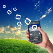 Mobile phone communication - Stock Photo