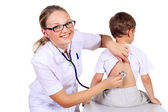 Doctor doing medical examination to a child — Stock Photo