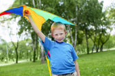 Portrait of a happy boy outdoors — Stock Photo