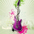 Guitar against decorative background — Stock Photo #7790974